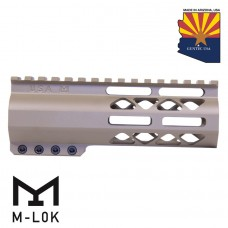 "6"" AIR-LOK SERIES M-LOK COMPRESSION FREE FLOATING HANDGUARD WITH MONOLITHIC TOP RAIL (FLAT DARK EARTH)"