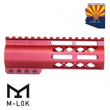 "6"" AIR-LOK SERIES M-LOK COMPRESSION FREE FLOATING HANDGUARD WITH MONOLITHIC TOP RAIL (RED)"