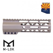 "7"" AIR-LOK SERIES M-LOK COMPRESSION FREE FLOATING HANDGUARD WITH MONOLITHIC TOP RAIL (FLAT DARK EARTH)"