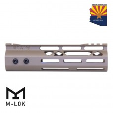 7″ Mod Lite Skeletonized Series M-LOK Free Floating Handguard With Monolithic Top Rail (Flat Dark Earth)
