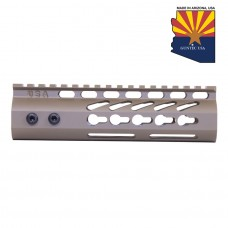 "7"" ULTRA LIGHTWEIGHT THIN KEY MOD FREE FLOATING HANDGUARD WITH MONOLITHIC TOP RAIL (FLAT DARK EARTH)"
