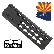 "7"" ULTRA SLIMLINE OCTAGONAL 5 SIDED KEY MOD FREE FLOATING HANDGUARD WITH MONOLITHIC TOP RAIL"