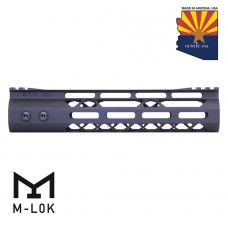 9″ Mod Lite Skeletonized Series M-LOK Free Floating Handguard With Monolithic Top Rail (Anodized Black)