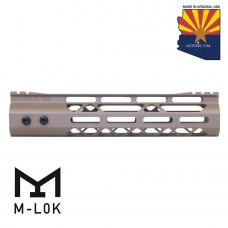 9″ Mod Lite Skeletonized Series M-LOK Free Floating Handguard With Monolithic Top Rail (Flat Dark Earth)