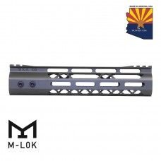 9″ Mod Lite Skeletonized Series M-LOK Free Floating Handguard With Monolithic Top Rail (OD Green)