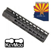 "9"" ULTRA LIGHTWEIGHT THIN KEY MOD FREE FLOATING HANDGUARD WITH MONOLITHIC TOP RAIL"