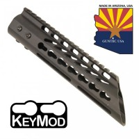 "9"" ULTRA LIGHTWEIGHT THIN KEY MOD FREE FLOATING HANDGUARD WITH SLANT NOSE"