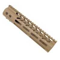 "9"" ULTRA LIGHTWEIGHT THIN M-LOK SYSTEM FREE FLOATING HANDGUARD WITH MONOLITHIC TOP RAIL (FLAT DARK EARTH)"