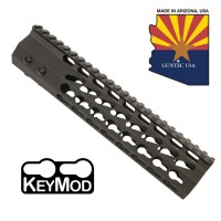 "9"" ULTRA SLIMLINE OCTAGONAL 5 SIDED KEY MOD FREE FLOATING HANDGUARD WITH MONOLITHIC TOP RAIL"