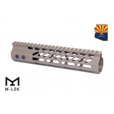 "9"" ULTRA SLIMLINE OCTAGONAL 5 SIDED M-LOK FREE FLOATING HANDGUARD WITH MONOLITHIC TOP RAIL (FLAT DARK EARTH)"