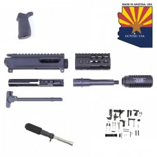 "AR-15 9MM CAL COMPLETE PISTOL KIT (4"" ULTRALIGHT M-LOK HANDGUARD)"