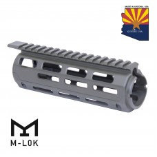 """AR-15 7"""" ALUMINUM CARBINE LENGTH DROP IN M-LOK FREE FLOATING HANDGUARD WITH MONOLITHIC TOP RAIL (OD GREEN)"""