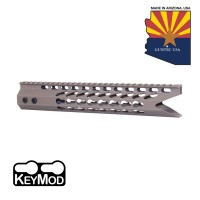 "11.5"" ULTRA SLIMLINE OCTAGONAL 5 SIDED KEY MOD FREE FLOATING HANDGUARD WITH ""SHARK MOUTH"" CUT (FLAT DARK EARTH)"