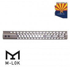 "15"" AIR LITE SERIES ""HONEYCOMB"" M-LOK FREE FLOATING HANDGUARD WITH MONOLITHIC TOP RAIL (FLAT DARK EARTH)"