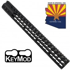 """16.5"""" ULTRA LIGHTWEIGHT THIN KEY MOD FREE FLOATING HANDGUARD WITH MONOLITHIC TOP RAIL"""