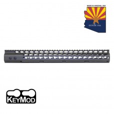 """16.5"""" ULTRA LIGHTWEIGHT THIN KEY MOD FREE FLOATING HANDGUARD WITH MONOLITHIC TOP RAIL (OD GREEN)"""