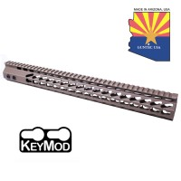 "16.5"" ULTRA SLIMLINE OCTAGONAL 5 SIDED KEY MOD FREE FLOATING HANDGUARD WITH MONOLITHIC TOP RAIL (FLAT DARK EARTH)"
