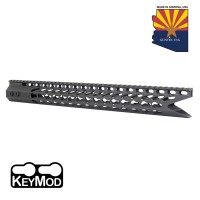 "16.5"" ULTRA SLIMLINE OCTAGONAL 5 SIDED KEY MOD FREE FLOATING HANDGUARD WITH ""SHARK MOUTH "" CUT (OD GREEN)"