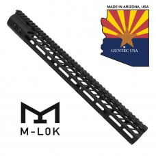 """16.5"""" ULTRA LIGHTWEIGHT THIN M-LOK SYSTEM FREE FLOATING HANDGUARD WITH MONOLITHIC TOP RAIL"""