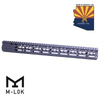 "16.5"" ULTRA SLIMLINE OCTAGONAL 5 SIDED M-LOK FREE FLOATING HANDGUARD WITH MONOLITHIC TOP RAIL"