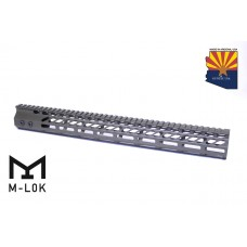 """16.5"""" ULTRA SLIMLINE OCTAGONAL 5 SIDED M-LOK FREE FLOATING HANDGUARD WITH MONOLITHIC TOP RAIL (O.D. GREEN)"""