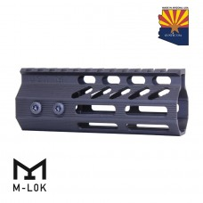 "5"" ULTRA SLIMLINE OCTAGONAL 5 SIDED M-LOK FREE FLOATING HANDGUARD WITH MONOLITHIC TOP RAIL"