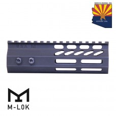 "6"" ULTRA SLIMLINE OCTAGONAL 5 SIDED M-LOK FREE FLOATING HANDGUARD WITH MONOLITHIC TOP RAIL"