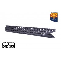 "16.5"" ULTRA SLIMLINE OCTAGONAL 5 SIDED KEY MOD FREE FLOATING HANDGUARD WITH ""SHARK MOUTH "" CUT"
