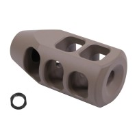 AR-15 GEN 2 STEEL MULTI PORT COMPENSATOR (FLAT DARK EARTH)