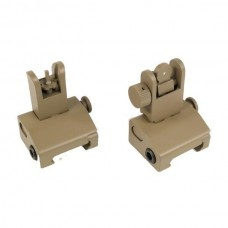 AR-15 SPRING ASSISTED LOW PROFILE FLIP UP SIGHT SET (FLAT DARK EARTH)