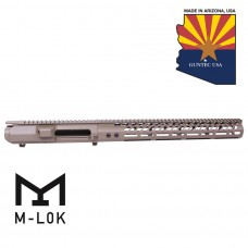 AR .308 Cal Stripped Billet Upper Receiver & 15″ Ultralight Series M-LOK Handguard Combo Set (Flat Dark Earth)