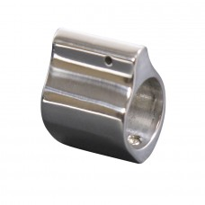 AR15 POLISHED STAINLESS STEEL LOW PROFILE GAS BLOCK