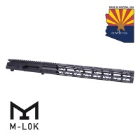 "AR15 STRIPPED BILLET UPPER RECEIVER & 15"" MOD LITE SKELETONIZED SERIES M-LOK HANDGUARD COMBO SET"