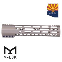 "GEN 2 10"" AIR-LOK SERIES M-LOK COMPRESSION FREE FLOATING HANDGUARD WITH MONOLITHIC TOP RAIL (FLAT DARK EARTH)"