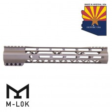 "GEN 2 12"" AIR-LOK SERIES M-LOK COMPRESSION FREE FLOATING HANDGUARD WITH MONOLITHIC TOP RAIL (FLAT DARK EARTH)"