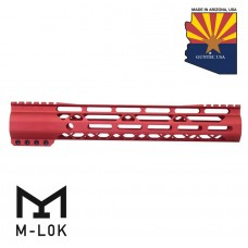 "GEN 2 12"" AIR-LOK SERIES M-LOK COMPRESSION FREE FLOATING HANDGUARD WITH MONOLITHIC TOP RAIL (RED)"