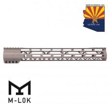 15″ AIR-LOK Series M-LOK Compression Free Floating Handguard With Monolithic Top Rail (Gen 2) (Flat Dark Earth)