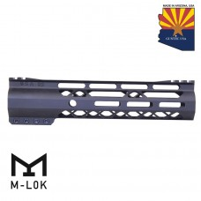 9″ AIR-LOK Series M-LOK Compression Free Floating Handguard With Monolithic Top Rail (Gen 2) (Anodized Black)