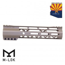 9″ AIR-LOK Series M-LOK Compression Free Floating Handguard With Monolithic Top Rail (Gen 2) (Flat Dark Earth)