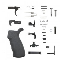 AR15 COMPLETE LOWER PARTS KIT WITH ERGONOMIC POLYMER PISTOL GRIP