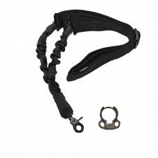 ONE POINT BUNGEE SLING WITH QD SNAP HOOK & QD AMBI BOLT ON SLING ADAPTER COMBO KIT (BLACK)