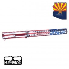 "AR15 ""Liberty Edition"" Stripped BIllet Upper Receiver & 15"" Keymod Handguard Combo"